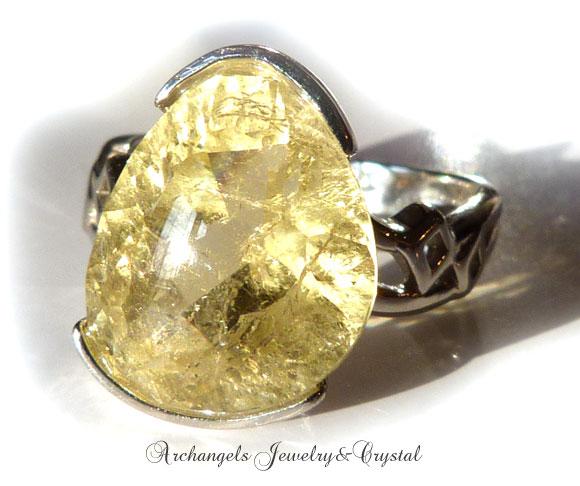 天然石 パワーストーン|イエローベリル ヘリオドール リング 指輪 アーキエンジェルズ