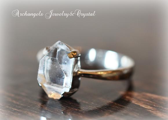 天然石 パワーストーン|  水晶 パワーストーンブレスレット リング ハーキマーダイヤモンド  クリアクォーツ ジュエリー