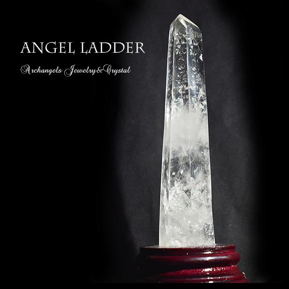 天然石 パワーストーン|エンジェルラダー・クォーツ 天使の梯子 水晶 クリアクォーツ ヒマラヤ産ポイント アーキエンジェルズ